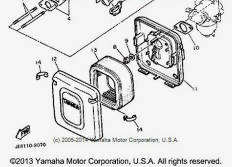 YamahaGenuineParts.com: YT6800 Air Filter YT5700, YT6700