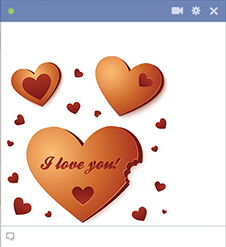 Heart cookies Facebook emoticon