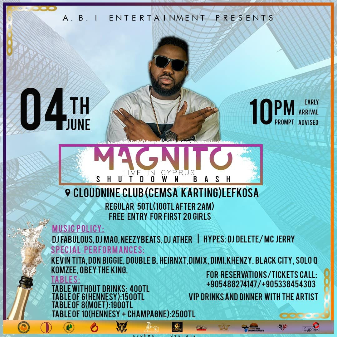 It's happening live in Cyprus this summer with rapper MAGNITO from Nigeria!!!