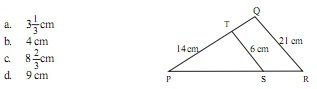 Soal Matematika Kelas 9 SMP Bab 1 – Kesebangunan Bangun Datar