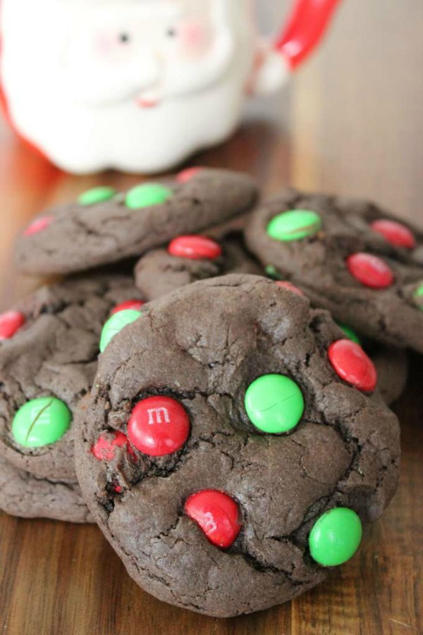 Chocolate Cake Mix Cookies with Candy from Baking Beauty