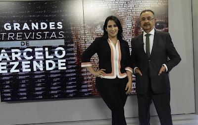 Fabíola Gadelha e Percival de Souza – Antonio Chahestian/Record TV