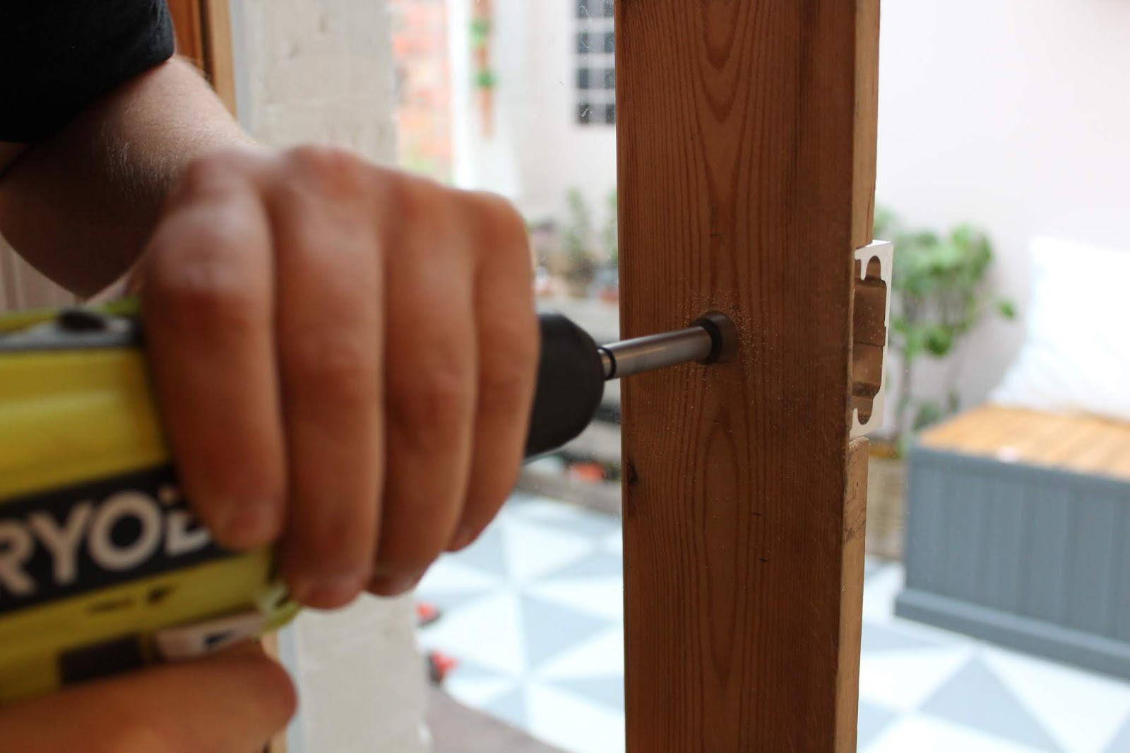 fitting handles on glazed door