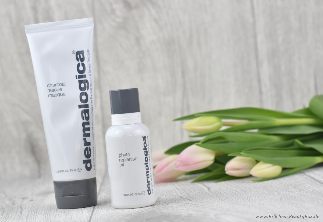 Review - Dermalogica - Charcoal Rescure Mask - Phyto Replenish Oil - HydraBlur Primer