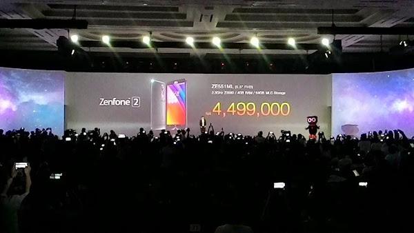 Harga Zenfone 2 Termahal dengan Spesifikasi Dewa Rp. 4.499.00