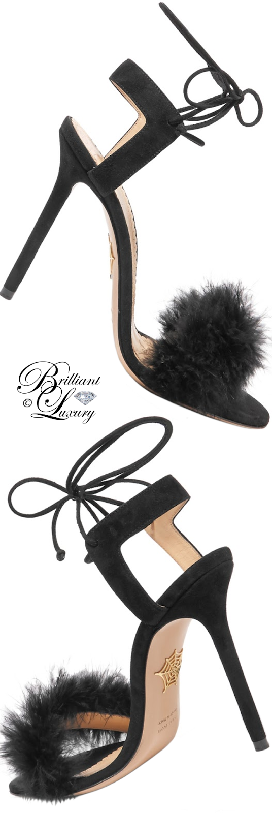 Brilliant Luxury ♦ Charlotte Olympia Salsa Fur Sandals