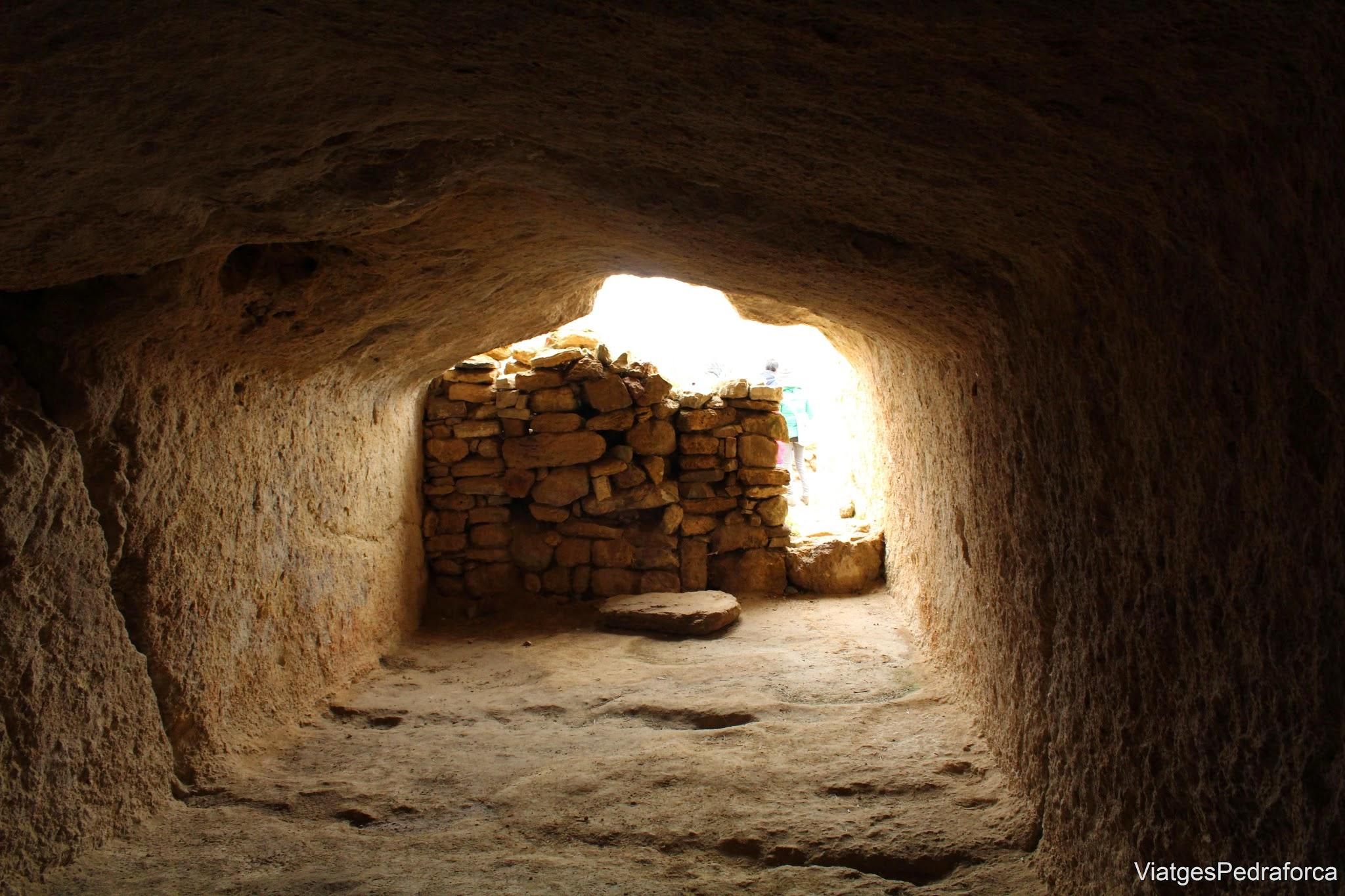 casa excava en la roca yacimiento celtibero de Contrebia Leucade La Rioja