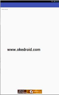 Hasil dari tampilan Iklan Admob di Aplikasi Android