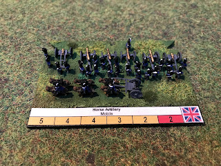 The label of the Royal Horse Artillery battery in 6mm