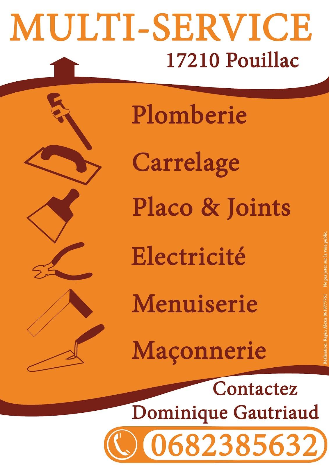 Realisation Dune Affiche Publicitaire Pour Une Entreprise De Multi Service Le But Etait Davoir Plus Propre Avec Des Petits Pictogrammes