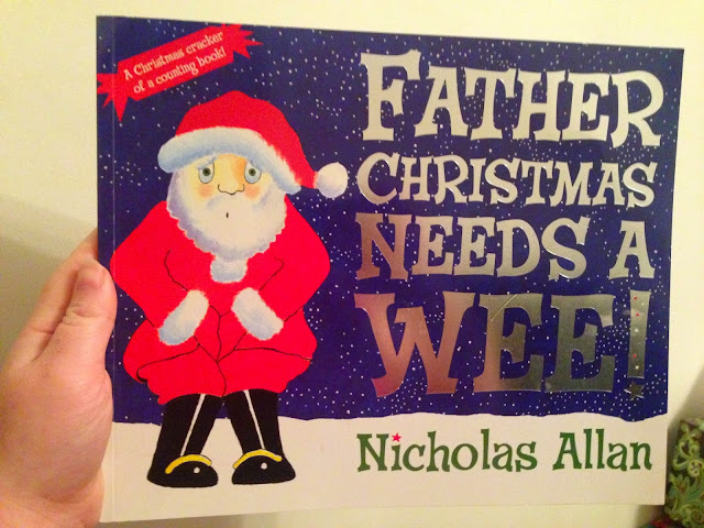 Our Christmas Book Advent tree   Ideas for the Best Children's Books to Buy this Christmas - Father Christmas needs a wee