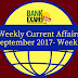 Weekly Current Affairs September 2017- Week I