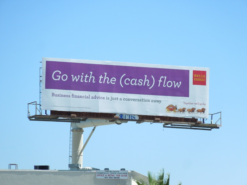 Wells Fargo cash flow billboard