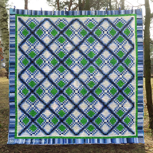 Triple Irish Delight Quilt Free Pattern  Designed by Becky Tillman of QuiltedTwins
