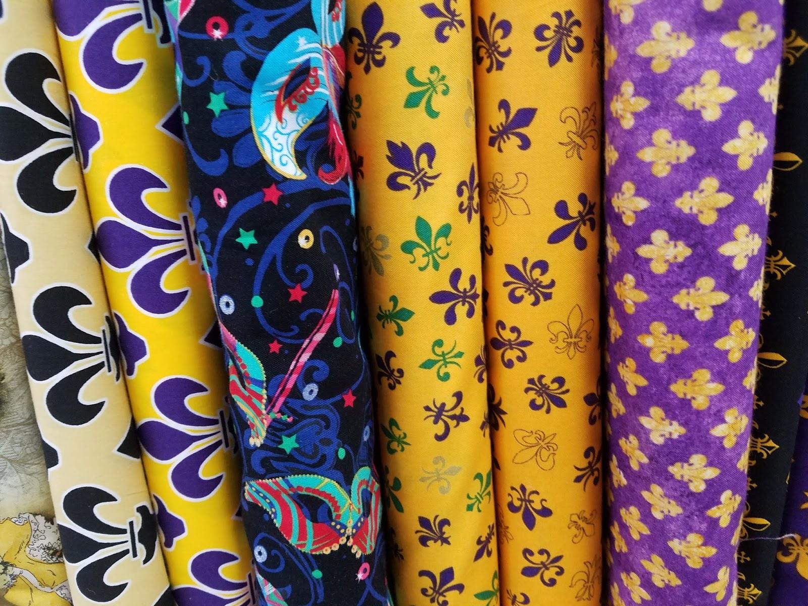 High fashion fabric houston - Miles Of Mardi Gras Fabric At High Fashion Fabrics In Midtown