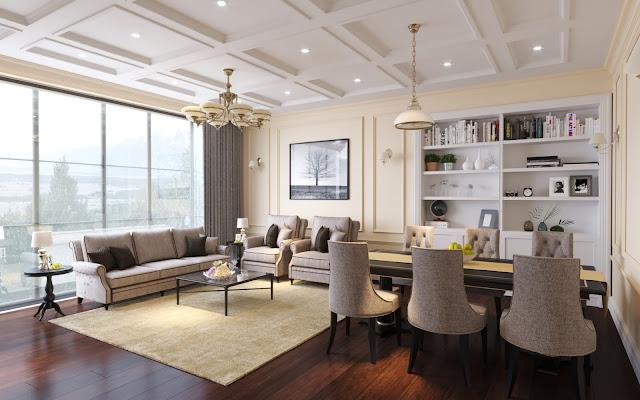 Thiết kế mẫu phòng khách căn hộ Iris Garden