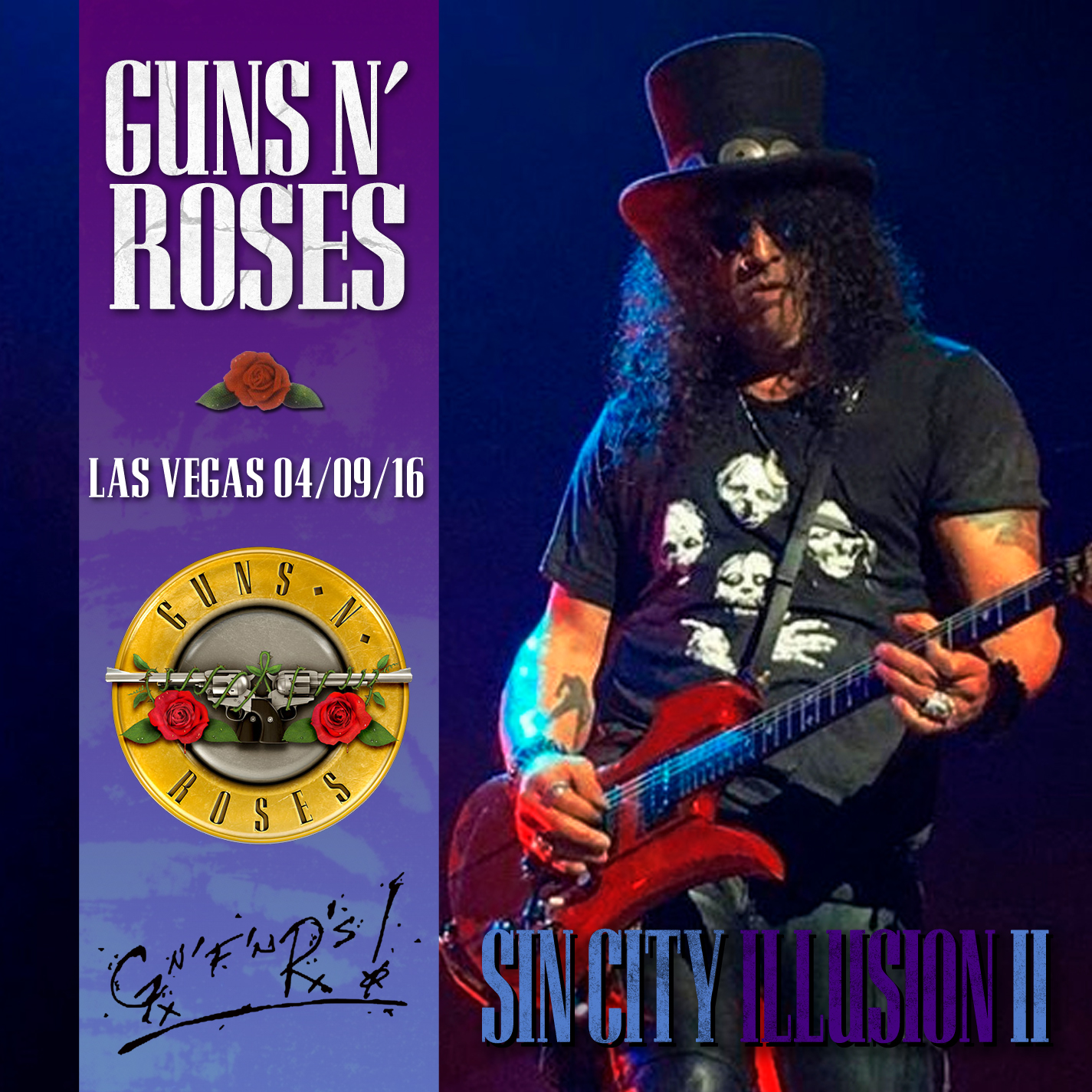 guns and roses in vegas