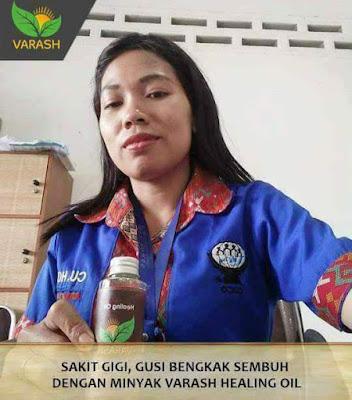 Sakit Gigi,Gusi Bengkak Sembuh dengan Produk Minyak Varash Healing Oil