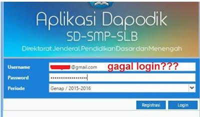 gambar gagal login dapodik versi 2016
