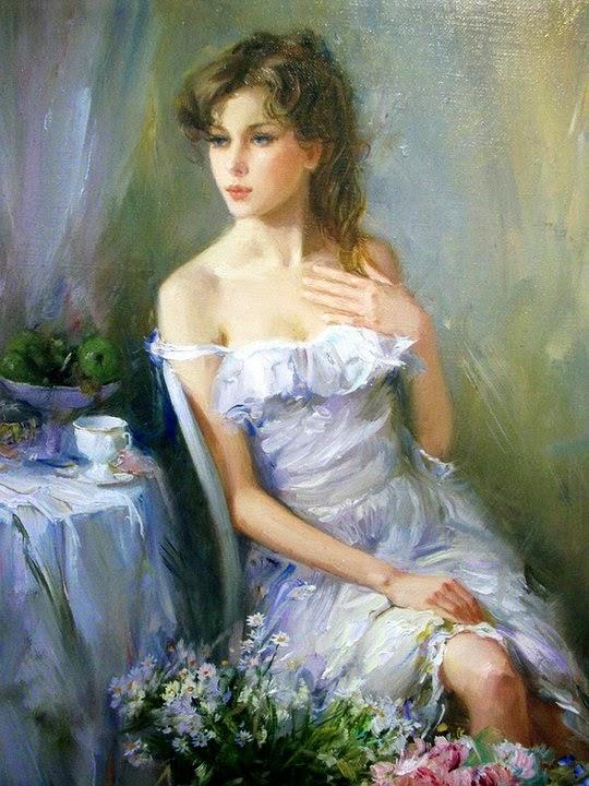 Konstantin Razumov e suas pinturas com sensualidade e elegância