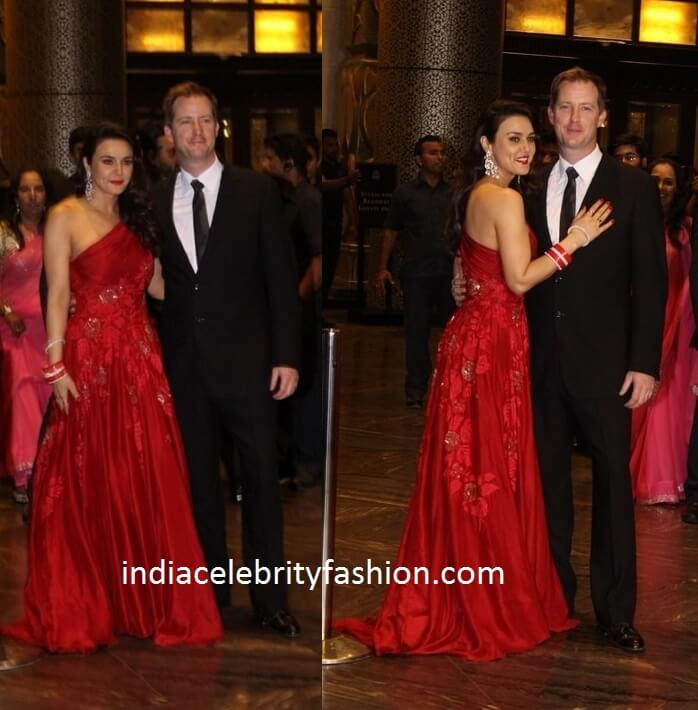 Preity Zinta in Manish Malhotra Gown