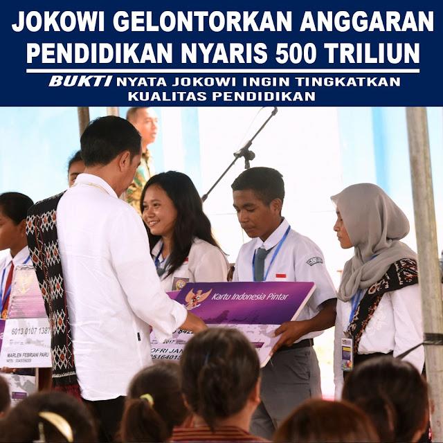 Jokowi Gelontorkan Anggaran Pendidikan Nyaris 500 Triliun