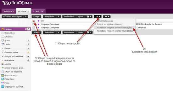 Fazer login no e-mail Yahoo