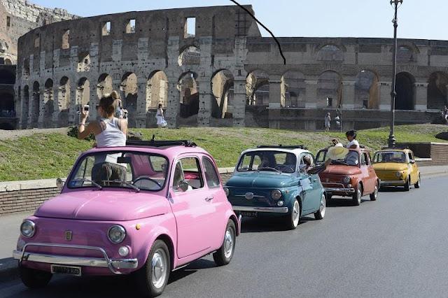 Viagem de carro de Roma à Milão