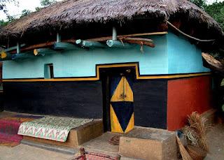 Santhal houses, Santali village, Santhali art