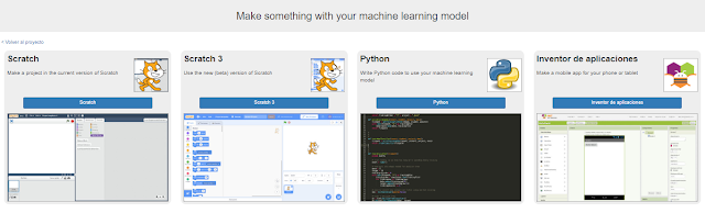 Seleccionamos la opción Python