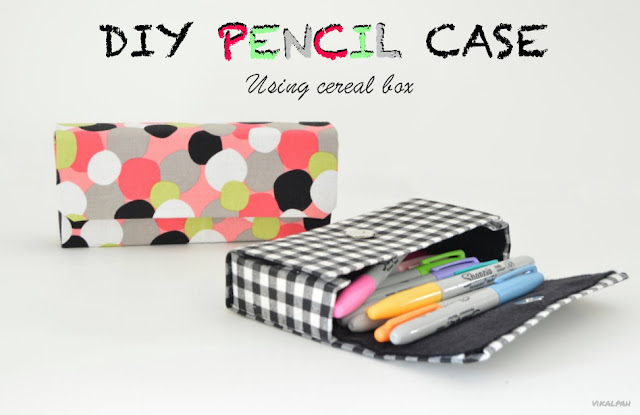 How to make pencil case using cereal box