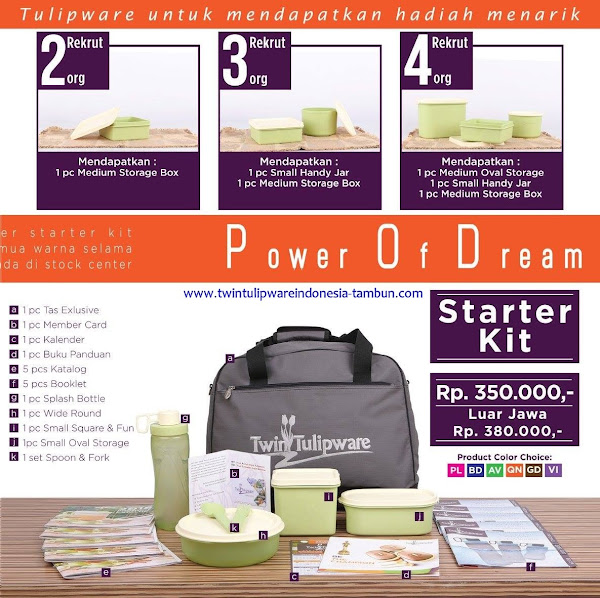 Paket Member Tulipware POD April 2017 | Starter Kit | Kit Bag