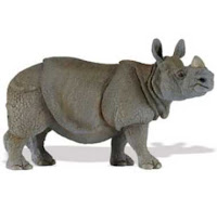 indian rhino toy miniature