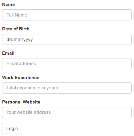bootstrap input form example