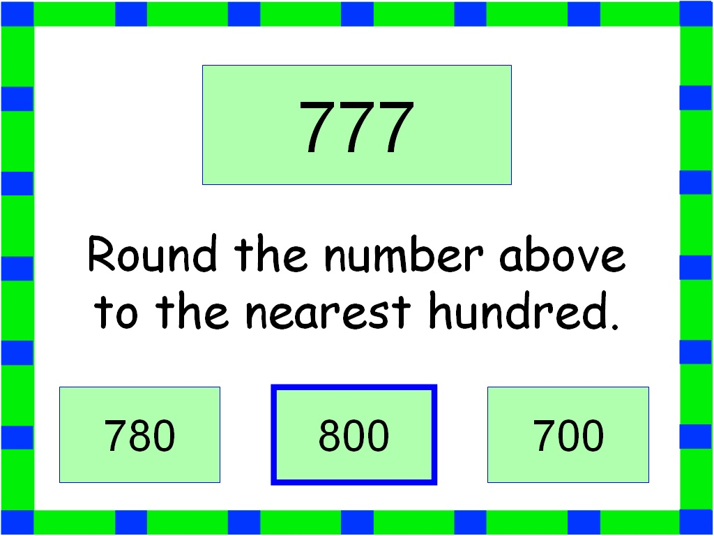Student Survive 2 Thrive Math Practice Round To The