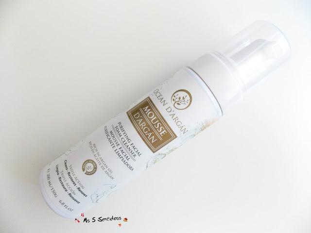 Espuma facial limpiadora de Aceite de Argán
