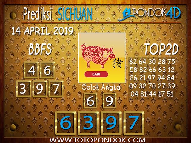 Prediksi Togel SICHUAN PONDOK4D 14 APRIL 2019