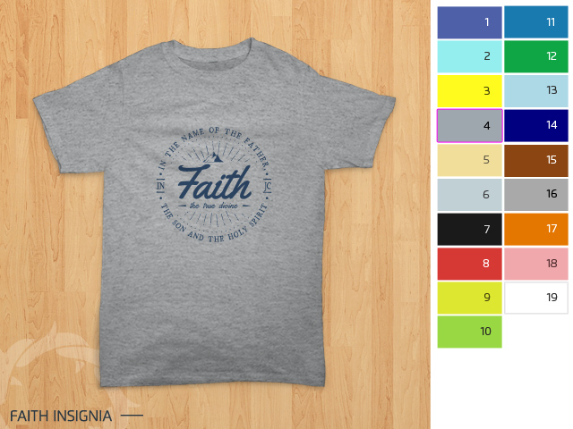 preview desain kaos rohani Kristen - Faith Insignia