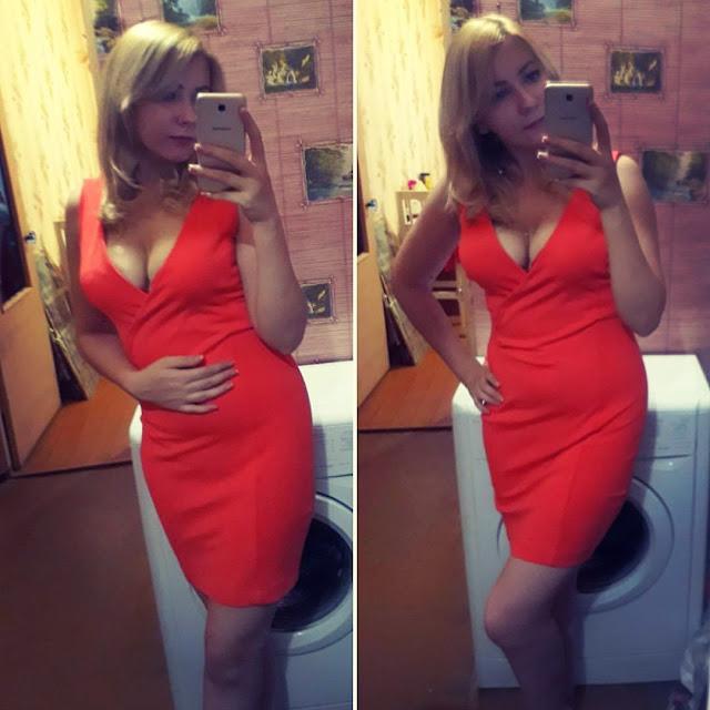 красное платье, red dress, девушка в красном платье