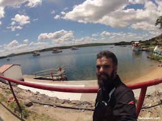Fazendo pose na represa de Xingó.