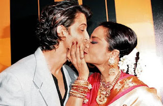 Hrithik Roshan and Rekha Spotted Kissing in public