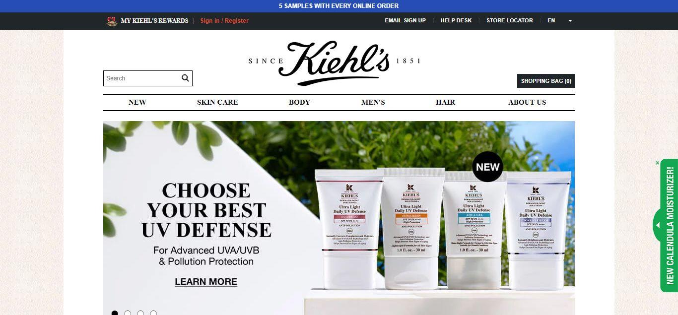 Kiehl's e-commerce