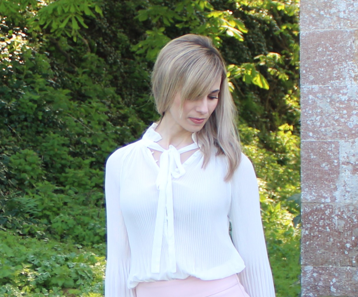 Blush Pink OOTD featuring Zara culottes - 3