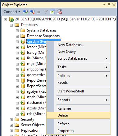 Installing Lync 2013 Cumulative Updates with Mirrored