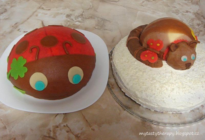 dorty ve tvaru berušky a kočky