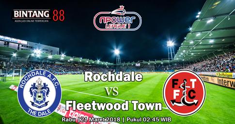 PREDIKSI Rochdale vs Fleetwood Town 21 MARET 2018