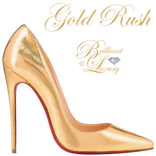 Brilliant Luxury ♦ Gold Rush ~ classy high heels for special occasions