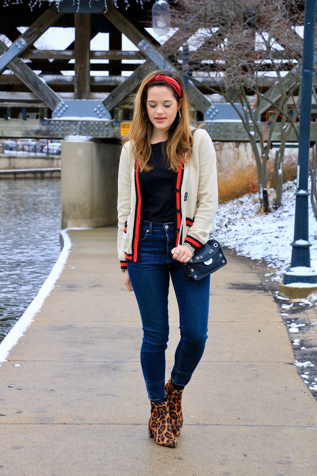 Nyc fashion blogger Kathleen Harper's varsity cardigan outfit idea