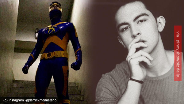 Derrick Monasterio teases with his tight spandex suit for Tsuper Hero