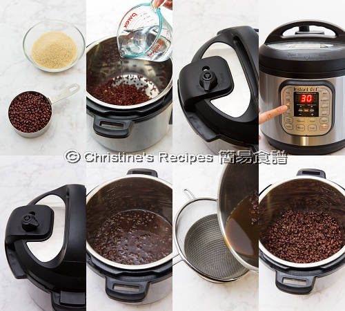 豆沙壓力煲製作圖 Red Bean Paste Instant Pot Procedures01